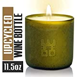 WOO Lucky Stress Relieving Tranquility Fragrance Bottiglia di vino riciclata Candle 50 ore Burn