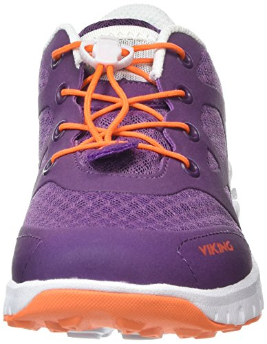 Viking Saratoga Ii, Baskets Basses mixte enfant Violet - Violett (Purple/Orange 1631)