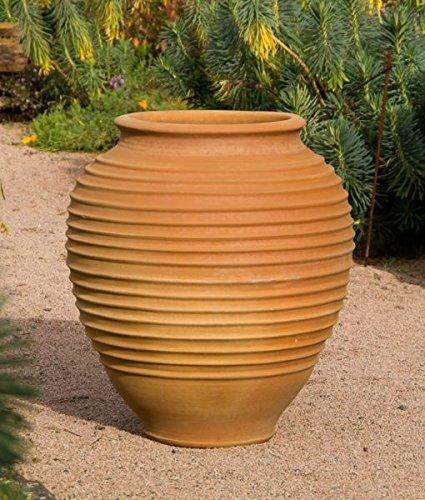 Kreta-Keramik | große hochwertige Terracotta Amphore | 80 cm | absolut frostfest | Garten Außenbereich, mediterrane Deko, Ficus