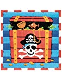 16 Serviettes Papier Pirate (33X33 cm)33x33cm