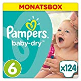 Pampers Baby Dry Windeln Gr. 6 15+kg Monatsbox 124 St.