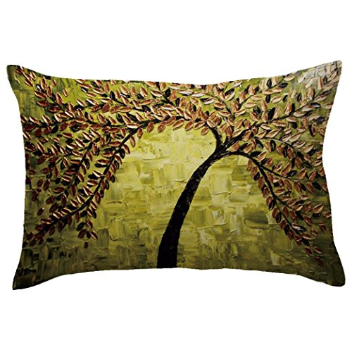Indexp Rectangle Tree Pattern Printing Throw Cushion Cover Sofa Home Decoration Pillow case (Style H)