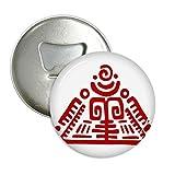 DIYthinker Totems Mexikanische Pyramide Antike Kultur Runde Flaschenöffner Kühlschrank Magnet Pins Abzeichen-Knopf-Geschenk 3pcs Silber