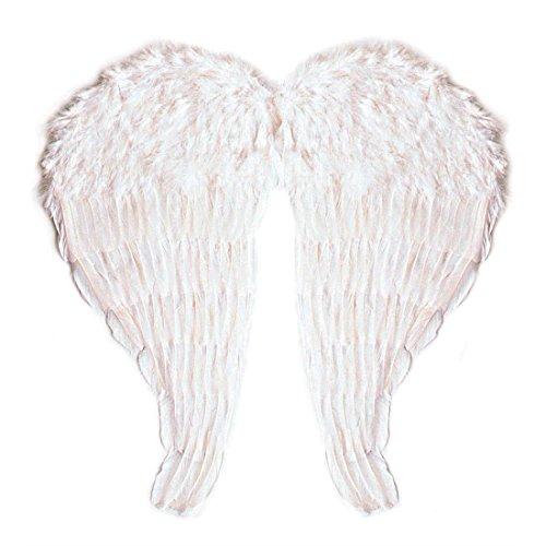 Große Engelsflügel aus modellierbaren Federn Engel Flügel Weihnachten 64 x 67 cm Engelsflügel weiss (Engel Für Erwachsene Feder Flügel)
