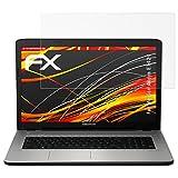 atFolix Schutzfolie kompatibel mit Medion Akoya E7424 Bildschirmschutzfolie, HD-Entspiegelung FX Folie (2X)