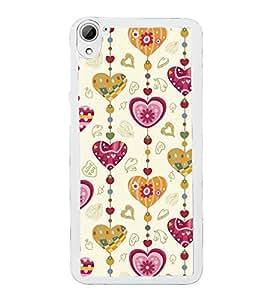 PrintVisa Love Design Pattern High Glossy Metal Designer Back Case Cover for HTC Desire 826 Dual Sim