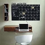 stickers muraux enfants cirque Ce mois-ci mensuel calendrier calendrier planificateur pour bureau salle de séjour des enfants