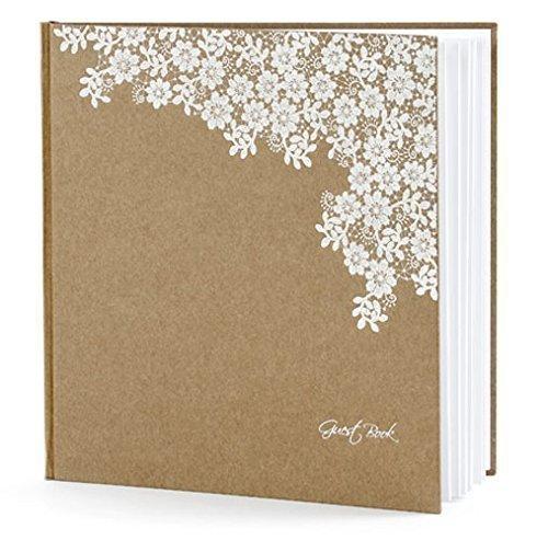 Gästebuch Hochzeit Hochzeitsgästebuch Fotoalbum Hochzeitsalbum Hochzeitsbuch natur/weiß von Haus der Herzen ®