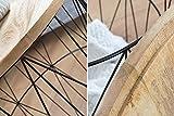 Invicta Interior Moderner Couchtisch Beistelltisch Storage aus Metall schwarz Holzdeckel aus Mangoholz Korb Aufbewahrung Tisch mit Mango Holz Ablage Aufbewahrungskorb Test