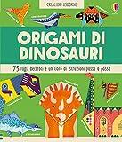 Origami di dinosauri 75 fogli decorati e un libo di istruzioni passo passo