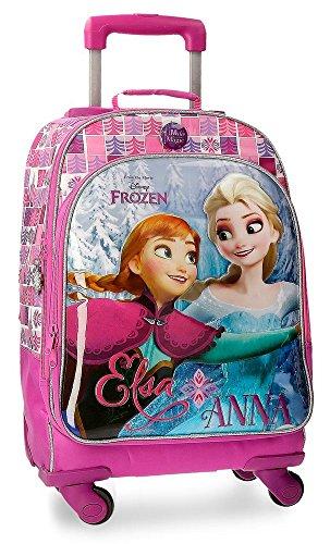 Disney-Sac à dos scolaire avec chariot La Reine des Neiges Magic