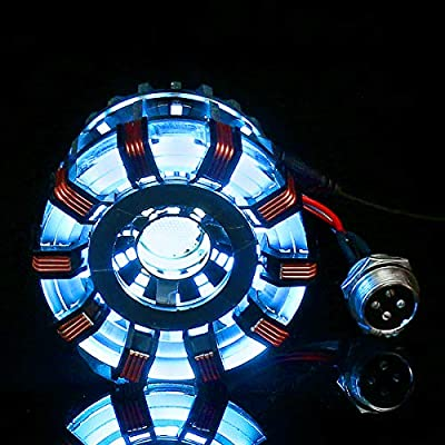 DyNamic Mk2 Tony Diy Arc Reactor Lamp Kit En Acier Inoxydable Illuminant Led Flash Light Set