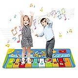 Upgrow Tanzmatte, Kinder Musikmatte, Klaviermatte mit 8 Instrumenten, Klaviertastatur Musik Playmat Spielzeug für Babys, Kinder, Mädchen und Junge (130x48 cm)