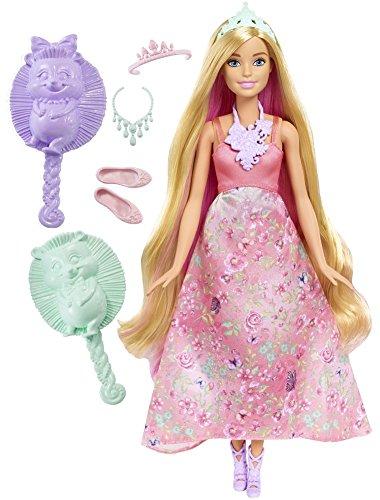 Mattel Barbie DWH42 - Dreamtopia Farbfrisuren Prinzessin Puppe, blond