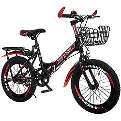 LHLCG Amortissement de vélo Pliant de 18/20 Pouces accélère Le vélo de Montagne de Vitesse Simple,Reda,18inches