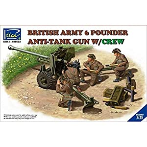 RIICH MODELS rv35042 - Figura British Army 6 Pounder Infantry - Tan