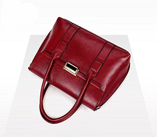 PU Borsa a Tracolla in Pelle Borsetta per le Donne Colore Puro-Rosso Rosso