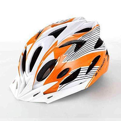 , Mountainbike-Helm/Fahrradhelm/Sport im Freien/Schutzhelm, Rollerhelm, Orange Weiß ()