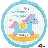 Amscan International 3445901 Folienballon SD-C:Baby Shower Schaukelpferd