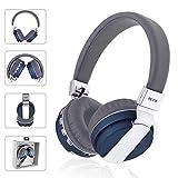 Joyeer Drahtlose Bluetooth Kopfhörer Gaming Musik Stereo Kopfhörer Schwere Bass Headset Unterstützung FM Radio Karte mit Mikrofon für iPhone PC iPad, Blue