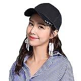 HAIPENG gorra Sombrero De Sol Mujer De Verano Protección Solar Círculo De Hierro Metálico Gorra De Béisbol, 2 Colores Sombrero para el sol (Color : Negro)