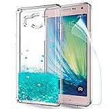 LeYi Coque Galaxy A5 Etui avec Film de Protection écran, Fille Personnalisé Liquide...
