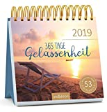 365 Tage Gelassenheit 2019: Postkartenkalender