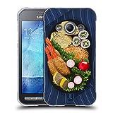 Head Case Designs Tempura Teller Orientalische Nahrung Soft Gel Hülle für Samsung Galaxy Xcover 3