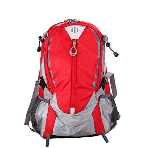 Yy.f Fahrrad Mode Rucksack Schulterbeutel Im Freien Reitbeutel Sporttasche Bergsteigen Taschen Urban Freizeit Multifunktionale Rucksack. Multicolor Red