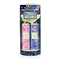 Relish nella splendida aroma di frutti dolci e giardini floreali con questo Reale Bouquet Gift Set da Baylis & Harding! Questa collezione include una bottiglia da 300ml di Body Wash che vengono nella deliziosa fragranza di Black Raspberry & F...