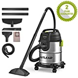 AUTLEAD Wet and Dry Vacuum Cleaner, 1000W 20L Vacuum Cleaner with Silencer, 3-in-1