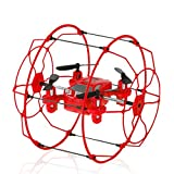 Kolylong Mini Quadcopter, FY802 2.4GHz 4CH 6-Axis Mini Hybrid Car-Copter RC Quadcopter