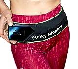 Funky Monkey Marsupio Cintura Uomo Donna Fascia Supreme Running Sportivo Elastica Nera Portasoldi Porta Cellulare Sottile da Corsa Fitness Ciclismo Escursione Palestra Viaggio