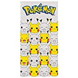 cangnan Pokemon 2200002388 31 * 51 Faces of Pikachu Bath and Beach Towel