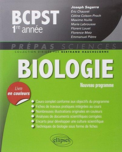 Biologie BCPST 1re Anne Programme 2013 Livre en Couleurs by Joseph Segarra (2014-05-27)