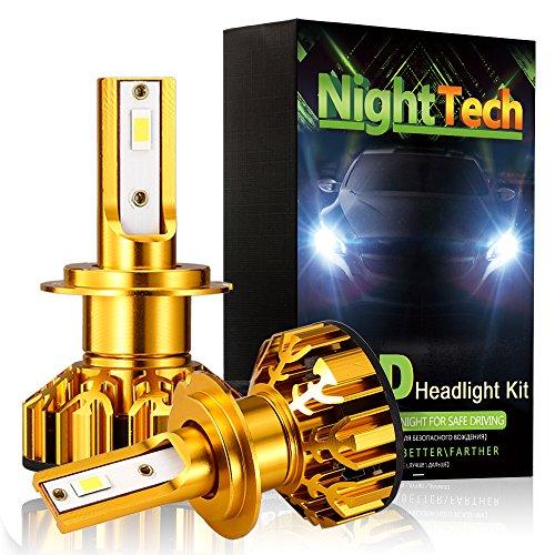 Preisvergleich Produktbild Diesel Auto H7 LED Lampen Autoscheinwerfer Kit 10000LM 60W 6500K Frontscheinwerfer DC12V-32V mit CSP LED Birnen- 3 Jahre Garantie