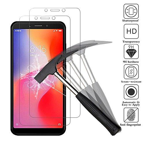 ANEWSIR Panzerglas Schutzfolie für Xiaomi Redmi 6/Redmi 6A, Schutzfolie Gehärtetes Glas, 9H Härte, Einfache Installation, Anti- Kratzer, Anti-Bläschen, Panzerglasfolie Bildschirmschutzfolie Folie.