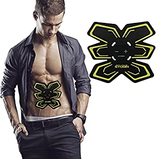 SYOSIN Abdominal Muscle Toner Body Toning ABS Fit EMS Abs Fit Training Waist Slimming Ab Belt Accelerates Weight Loss EMS Gym Workout Machine, Smart Fitness Gear, Home Fitness Training Support For Men & Women