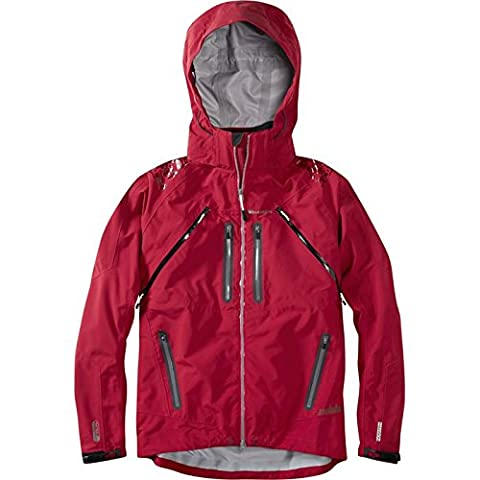 Madison Addict Mens 3-Layer Waterproof Storm MTB Jacket XX-large Red