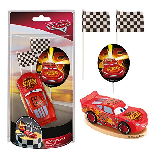 Dekora - Decoration for Cakes with the Lightning McQueen PVC Figure of the Cars Movie