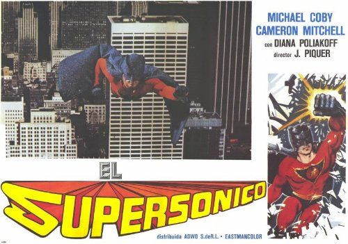 Supersonic Man Poster (11 x 17 Inches - 28cm x 44cm) (1979) Spanish Style B