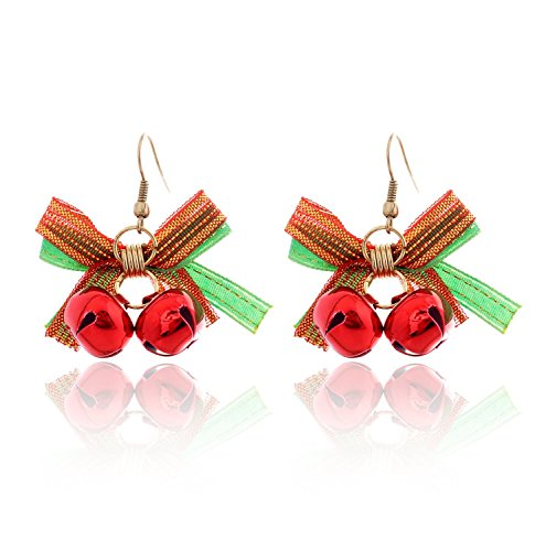 Lureme® Natale Retro Carina Arco with Rosso Jingle Bells Hook Earring (02004732)