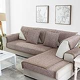 QY&LA Sofa Möbel Protector für Haustiere Hund, Baumwolle Anti-Rutsch Schnitt Sofa Werfen Abdeckung Pad, Ganze Saison Volltonfarbe Sofa Decken, L-Form Couch-Abdeckung-B 90x240cm(35x94inch)