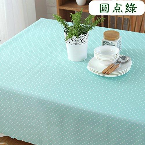 FLYRCX Simple et élégant tapis de table Nappe rectangulaire waterproof résistant à l'huile et à l'échaudure nappe jetable anti,140x180cm,UN