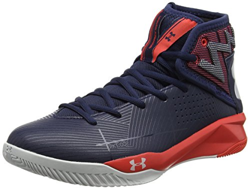 Under Armour Ua Rocket 2, Chaussures de Basketball Homme Bleu (Midnight Navy 410)