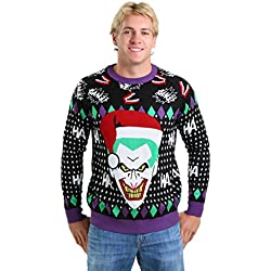 Fun Costumes Joker Santa Ugly Christmas Sweater X-Small