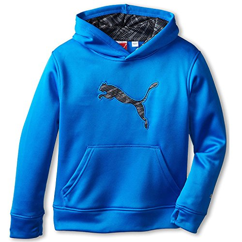 Puma Boys Hoodie Athletic Sweatshirt mit Kapuze Fleece atmungsaktiv blau Medium (Mesh Kurze Wicking Athletic)