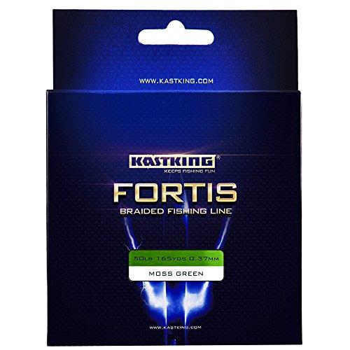 KastKing® Fortis intrecciato linea di pesca, la New Line treccia con formula potenziata, più forte, più liscia, Fade resistente - NUOVO ARRIVATO