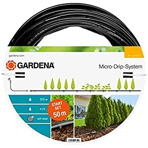 Gardena Starter Set Planted Rows L, Micro-Drip Garden Watering System for Gentle, Water-saving Irrigation of Plant Rows (13013-20)