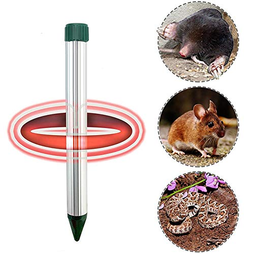 Little Fairy Fang Ultrasonic Vibration Mice Repellent Device Aluminum Tube Low Energy Consumption Small Animal Bird Repeller Outdoor Waterproof Intelligent Repellent (Farm Animal Tubes)